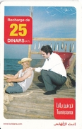 TARJETA DE TUNEZ DE 25 DINARS - PESCADOR - Tunisie