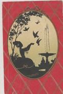 Dame Attendrie Devant Ses Oiseaux.  (Art Nouveau) - Tegenlichtkaarten, Hold To Light