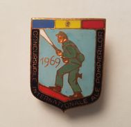 OLD COMMUNIST ROMANIA INTERNATIONAL FIREFIGHTING  COMPETITION 1969. BADGE - Pompiers