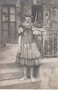 CP Photo Patarin à Ducey - Jeune Fille Costumée En Basquaise? Espagnole? Espadrilles? - Non Classés