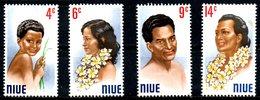 NIUE. N°129-32 De 1971. Portraits D'autochtones. - Niue
