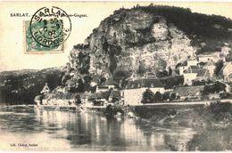CPA N°16175 - SARLAT - VUE DE LA ROQUE GAGEAC + UNE - Sarlat La Caneda