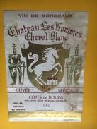 6172 - Château Les Hommes  Cheval Blanc 1982 Côtes De Bourg - Bordeaux
