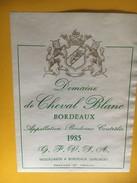 6174 - Domaine De Cheval Blanc 1985 - Bordeaux