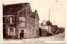 22CALLAC - La Route De Guingamp - Callac