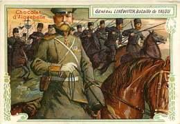 191217D - CHROMO CHOCOLAT AIGUEBELLE - Militaria GENERAL LINEWITCH Bataille De YALOU - Aiguebelle