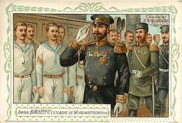 191217D - CHROMO CHOCOLAT AIGUEBELLE - Militaria AMIRAL BIRILEFF Ct Escadre De Wladiwostock RUSSIE - Aiguebelle