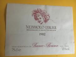 6184 - Nebbiolo D'Alba 1982 Italie - Etiquettes