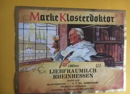 6185 - Marke Klosterdoktor 1985 Liebfraumilch Rheinhessen Allemagne - Etiquettes