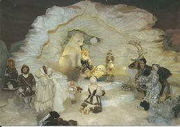 Heureux Noêl : Crêche Polaire. Ours Blanc/Renne.Esquimaux/Inuits. - Natale