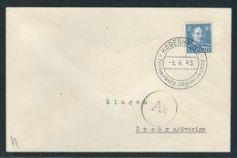 MiNr. 275 Auf Ersttagsbrief FDC Kobenhavn Nach Schweden, Zensurstempel - 1913-47 (Christian X)