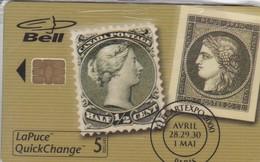 TARJETA DE CANADA CON UNOS SELLOS DE TIRADA 1500  (SELLO-STAMP) NUEVA-MINT - Sellos & Monedas
