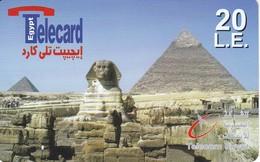 TARJETA DE EGIPTO DE TELECARD 20 UNITS DE LAS PIRAMIDES - Egypt