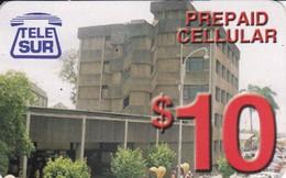 TARJETA DE SURINAM DE TELE SUR DE $10 EDIFICIO (TELESUR) - Surinam