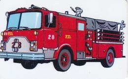 TARJETA DE UN CAMION DE BOMBEROS F.D. DE TELENIC (BOMBERO) - Firemen