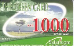 TARJETA DE KENIA DE SAFARICOM DE KSH1000 VISTA DE LA SABANA DATE 28/02/2004 - Kenya