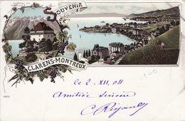 Souvenir De Clarens-Montreux 1904 - VD Vaud
