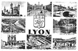 LYON - 36100 - Paysages Lyonnais (Fourvière, PL Terreaux, Pont Tilsitt, Confluent, Tête D'Or ...) - Ed. J. Cellard, Bron - Lyon