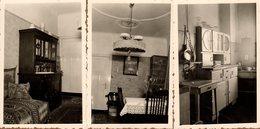 3 Photos Originales Mobilier & Ambiance Intérieure Pour Cet Appartement Allemand En 1940 - Lustres, Cuisine & Poêle - Objets