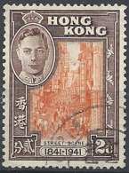 Hong Kong, 1941 Street Scene, 2c Sepia & Org # SG 163 - Michel 163 - Scott 168 MLH - Oblitérés