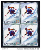 LATVIA 2002  Winter Paralympics Block Of 4  MNH / **.  Michel 566 - Latvia