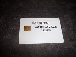CARTE A PUCE LAVAGE ELF MODELE PROVISOIRE AUTOCOLLANT VILLEBON T.B.E !!! - Frankrijk