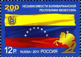 2011-1492 1v Russia Russland Rusland Russie Rusia 200th Anniversary Of The Independence Of Venezuela Mi 1724 MNH - 1992-.... Federazione
