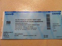 Lithuania Ticket Elvis Presley Show - Tickets D'entrée