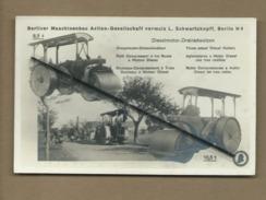 Carte - Rouleaux Compresseurs à Trois Rouleaux à Moteur Diesel - Berliner Maschinenbau - Berlin N 4-  Rouleau - Tractores