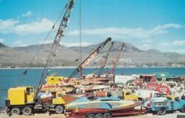 Lake Chelan Unlimited Hydroplane Race Pit Scene, U-79, M'iss Washoo??' Boats Equipment C1950s/60s Vintage Postcard - Ships