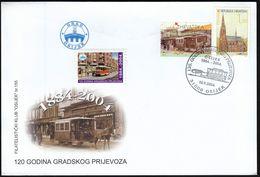 Croatia Osijek 2004 / Public Transport 120 Years / Horse Tramway - Tramways