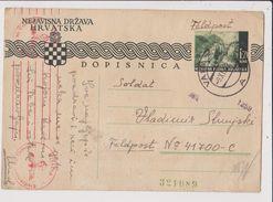 DOPISNICA  --  NEZAVISNA DRZAVA HRVATSKA  / FELDPOST  /   WERMACHT ZENSUR 1942 - Croatia