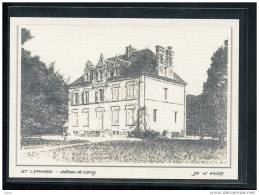 44  ST  LYPHARD...  Chateau  De Kervy .... Carte Dessin Au Fusain ... Edition Toilee Luxe - Saint-Lyphard
