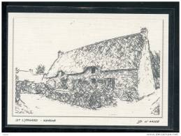 44  ST  LYPHARD...  Kerhinet   .... Carte Dessin Au Fusain ... Edition Toilee Luxe - Saint-Lyphard