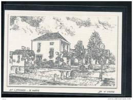 44  ST  LYPHARD...  La  Mairie   .... Carte Dessin Au Fusain ... Edition Toilee Luxe - Saint-Lyphard