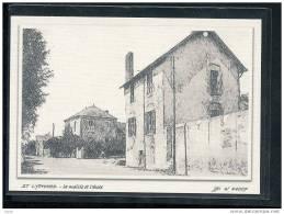 44  ST  LYPHARD...  La  Mairie  Et L'ecole .... Carte Dessin Au Fusain ... Edition Toilee Luxe - Saint-Lyphard