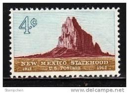 1962 USA New Mexico Statehood Stamp Sc#1191 Shiprock Rock - Geology