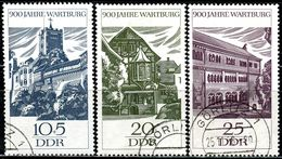 DDR - Michel 1233 / 1235 - OO Gestempelt (B) - 900 Jahre Wartburg - [6] Oost-Duitsland