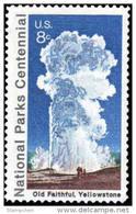 1972 USA National Parks Centennial Old Faithful - Yellowstone Stamp Sc#1453 Geology - Geology