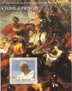 SAO TOME AND PRINCIPE  - S/S - MNH - 25th ANNIVERSARY OF THE PONTIFICATE OF POPE JOHN PAUL II 1978 - 2003 - Sao Tome Et Principe