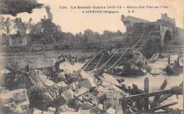 DIZMUDE - La Grande Guerre 1914-15 - Ruines D'un Pont Sur L'Yser. - Diksmuide