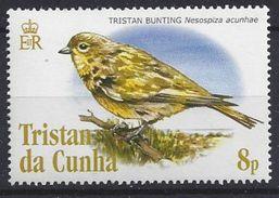 Tristan Da Cunha  2005 Birds; Tristan Bunting 8p (**) MNH - Tristan Da Cunha