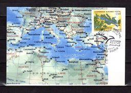 """FRANCE 2009  """" EUROMED POSTAL / CARTE / EUROPE """" Sur Carte Maximum Souple. N° YT 4422. Parfait état. CM - Poste"""