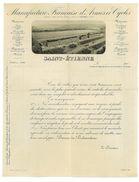 FACTURE - MANUFACTURE FRANCAISE D'ARMES ET CYCLES - SAINT ETIENNE 42 - 1908 - Francia