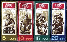 DDR - Michel 1268 / 1271 - OO Gestempelt (A) - SED Parteitag 67 II - DDR