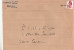 GRIFFE LINEAIRE D ARRIVEE BORDEAUX RP 1150 SUR LETTRE DE ST GAUDENS - Marcophilie (Lettres)