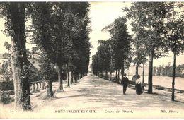 CPA N°16186 - LOT DE 2 CARTES DE SAINT VALERY EN CAUX - COURS DE L' OUEST + MONUMENT COSTES ET BELLONTE - Saint Valery En Caux