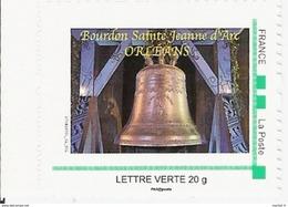 FRANCE TPP TIMBRE POSTE PERSONNALISE MTM MONTIMBRAMOI MONTIMBR@MOI 20 G Cloche Bourdon Jeanne D Arc Orleans BELL GLOCKE - Musique