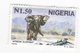 1,50 N - ELEPHANT D'AFRIQUE - Nigeria (1961-...)