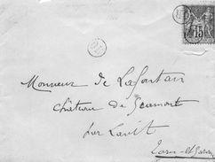"""Oblitérations  """"OR""""  Sur N°90 Sur L.S.C. Pour La Château De Gramont Par LAVIT.(Tarn Et Gar.) - Postmark Collection (Covers)"""
